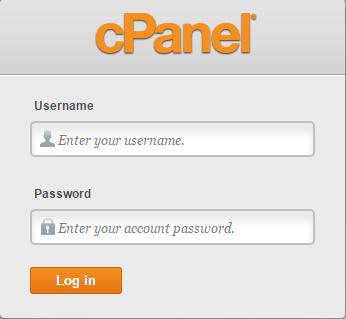 cpanel_how_to_repair_a_broken_database-1-login_screen